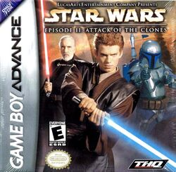 Attack of the Clones video game cover