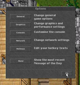 how to change click options in tibia client