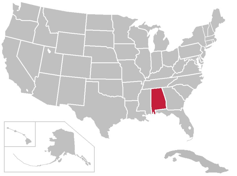 United States Map Alabama File:united States Map Alabama