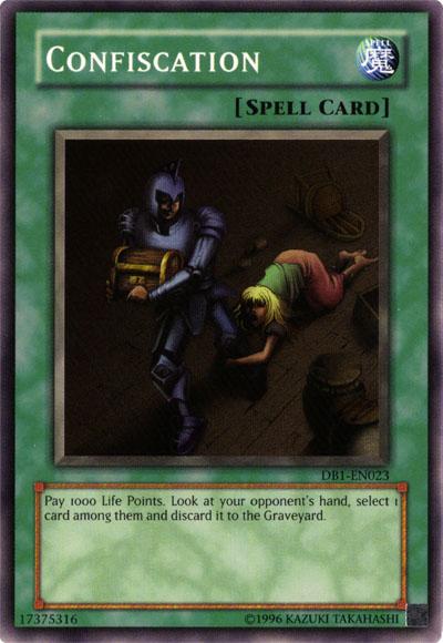 Card Errata:Confiscation - Yu-Gi-Oh!