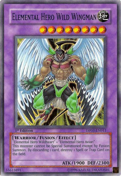 Elemental Hero Wildheart ElementalHEROWildWingman-DP03-