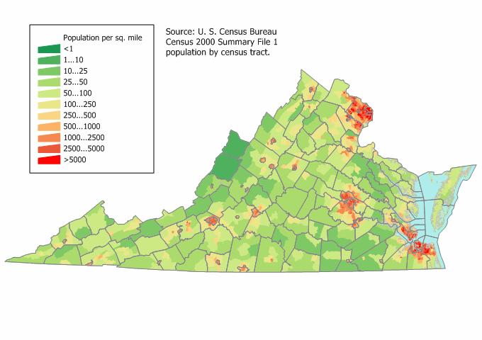 Virginia Beach Population Density