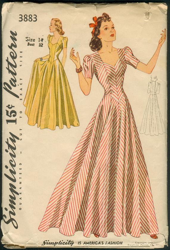 Simplicity 3883 Vintage Sewing Patterns