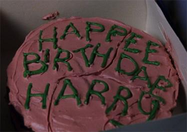 Harry Potter's birthday cake from Rubeus Hagrid - Harry ...