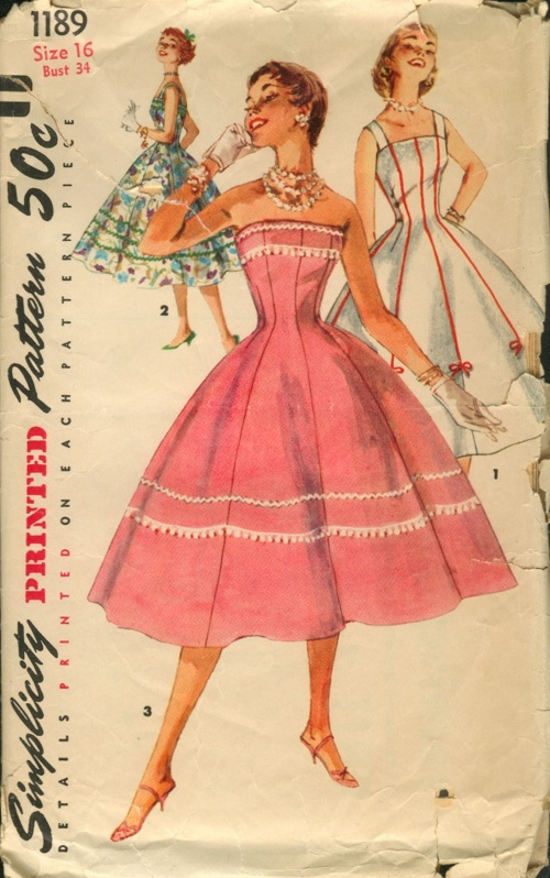 Simplicity 1189 Vintage Sewing Patterns Wikia