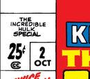 Incredible Hulk Special Vol 1 2