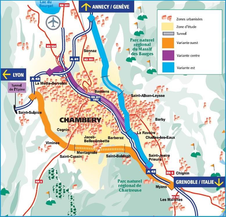 Contournement de chambery for Projet chambery