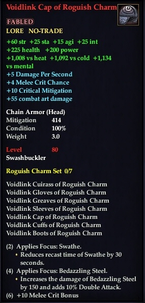 voidlink cap of roguish charm eq2i the everquest 2 wiki
