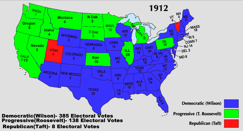 a study of the american election of 1912 Us election statistics: a resource guide  a handbook of contemporary american election statistics 28 vols  (1912-2008) house general election returns.