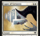 Lapse of Certainty