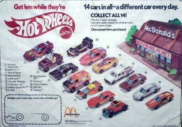 Mcdonald S And Hot Wheels Car In Red And Yellow