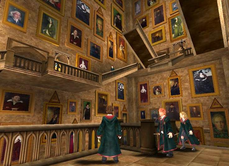 Harry Potter Staircase : Image portraits and the moving stairs g harry
