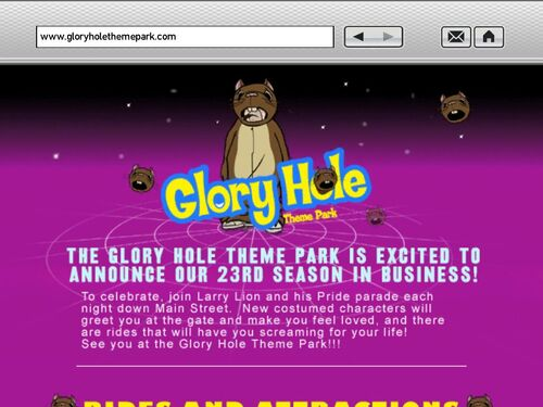 Something also Glory hole theme and