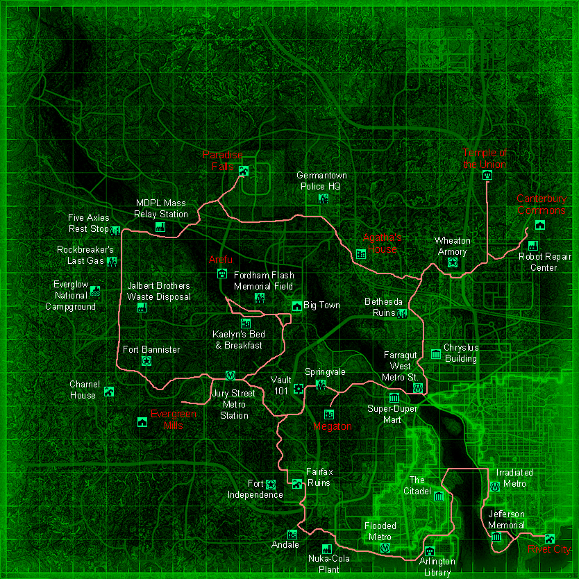 fallout 3 rivet city with Fallout 3 Vs Fallout New Vegas on Medieval Concept Art Gallery further 3612 besides 1122 Future Cities additionally Jet crash site also Washington Monument.