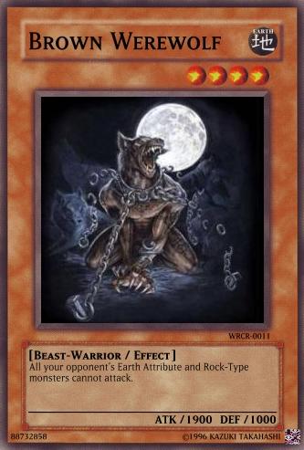 Brown Werewolf Yu Gi Oh Card Maker Wiki Cards Decks