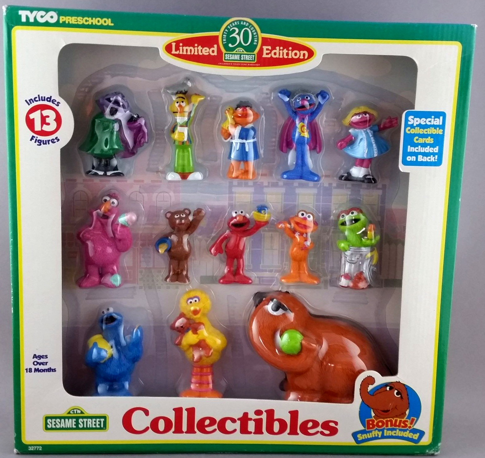 Sesame Street PVC figures  Tyco on oscar and slimey figures