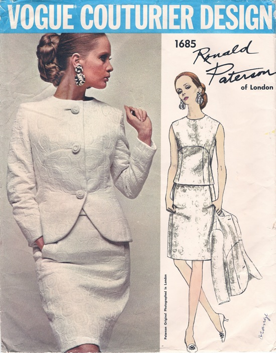 1960s Ronald Paterson suit pattern - Vogue 1685