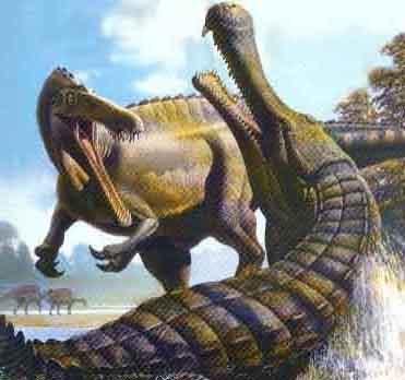 Image - Sarcosuchus vs suchomimus.jpg - Prehistoric Wiki ...