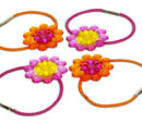 7505 Flowered Hair Bands