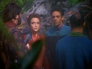 Kira und Bashir werden vom Maquis gefangen gehalten