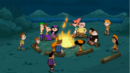 Campers regroup at the campfire.png