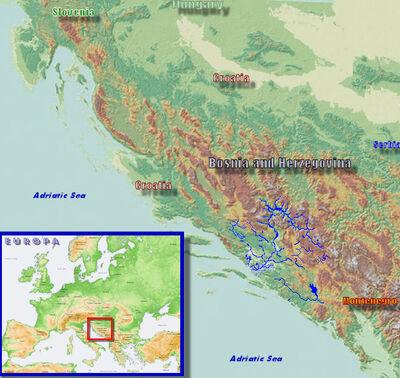 Mapa Neretva u BiH