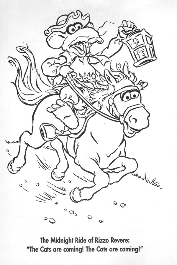 Paul revere historical muppet wiki Coloring book wiki