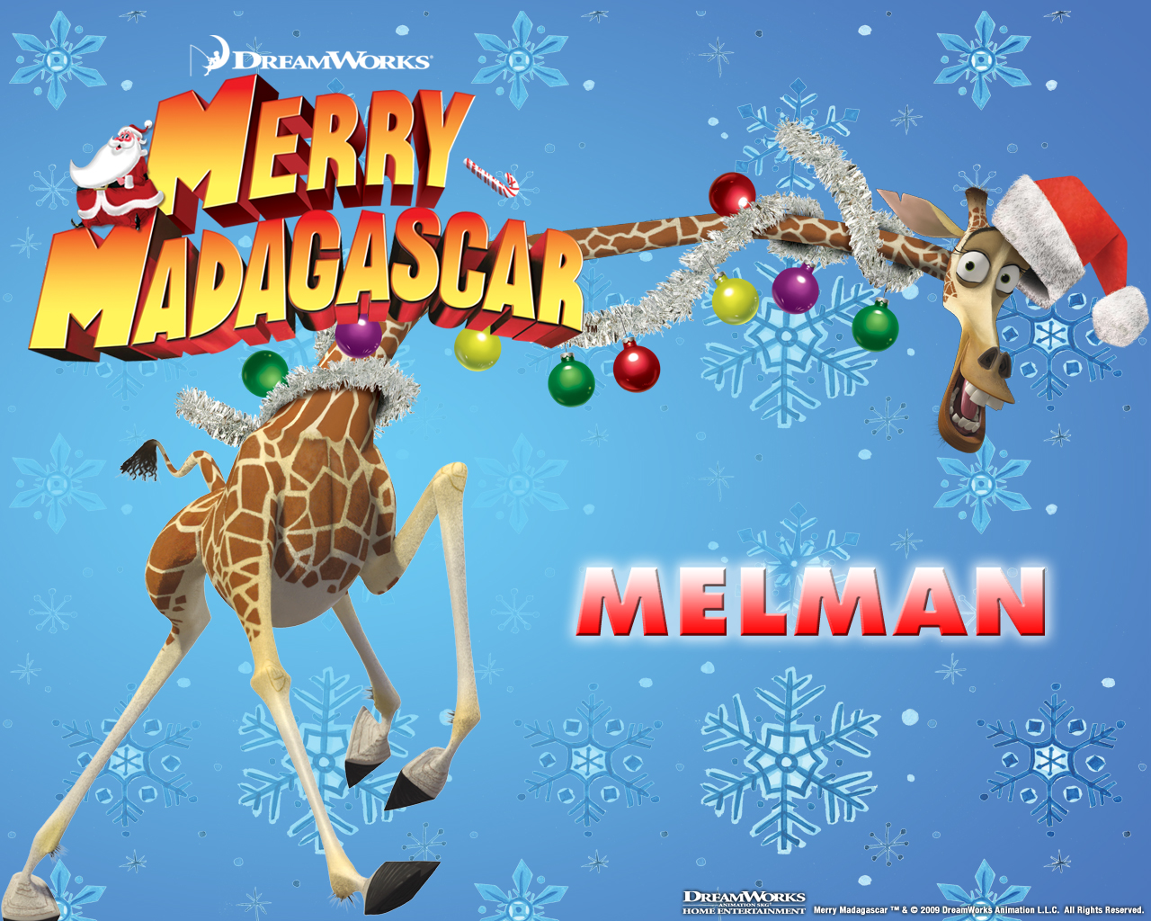 Image - MerryMadagascarWallpaper-Melman.jpg - Madagascar Wiki