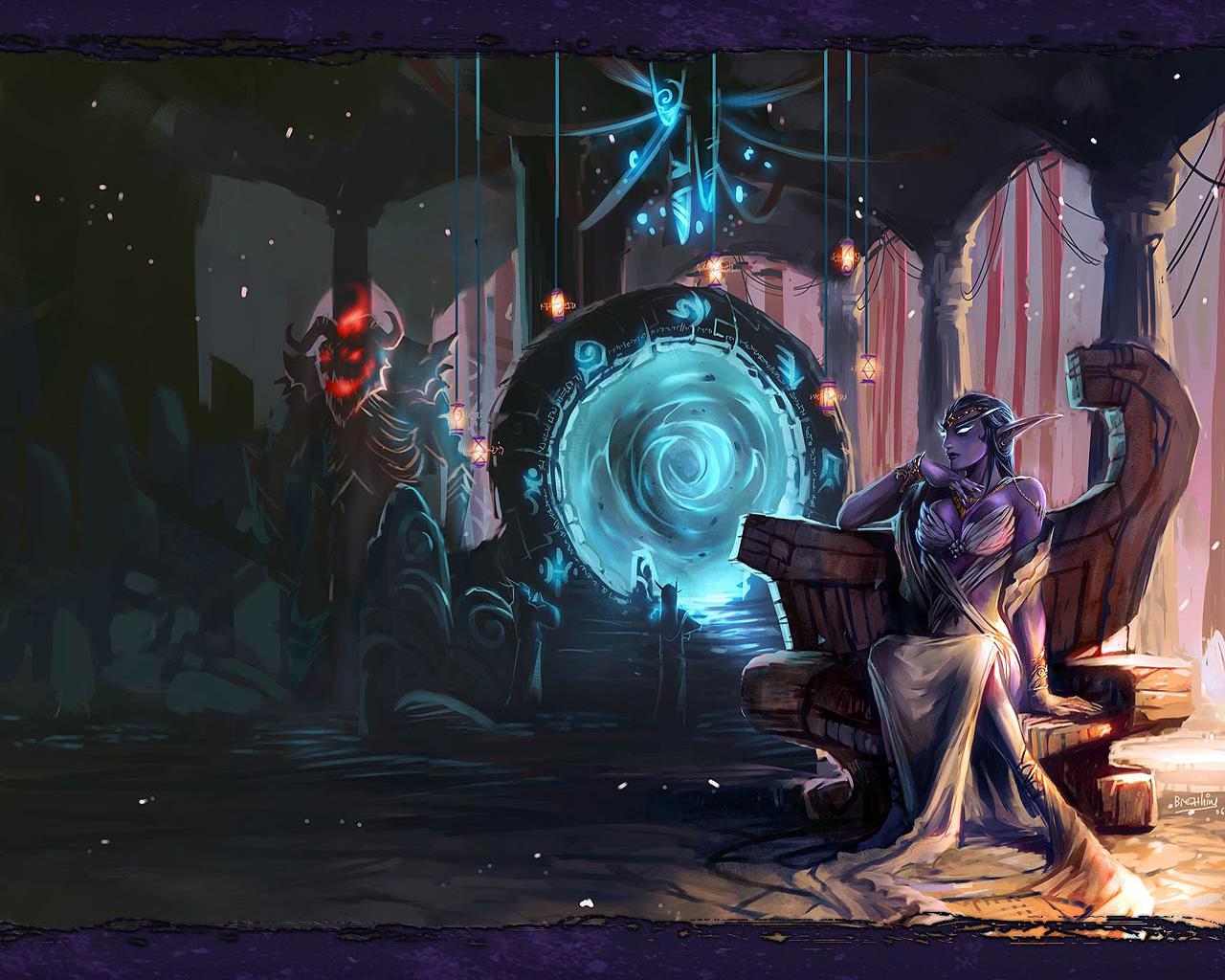 image World of warcraft elf dance