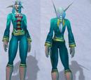 Праздничный бирюзовый костюм