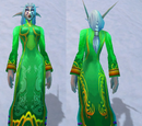 Праздничное зеленое платье