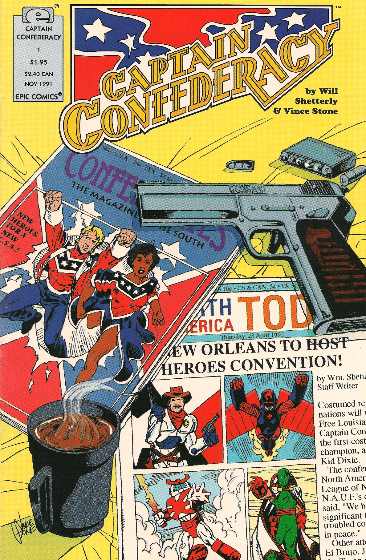 Captain Confederacy Vol 1 1 Marvel Comics Database