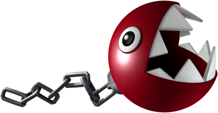 Super Mario Chain Chomp Coloring Pages