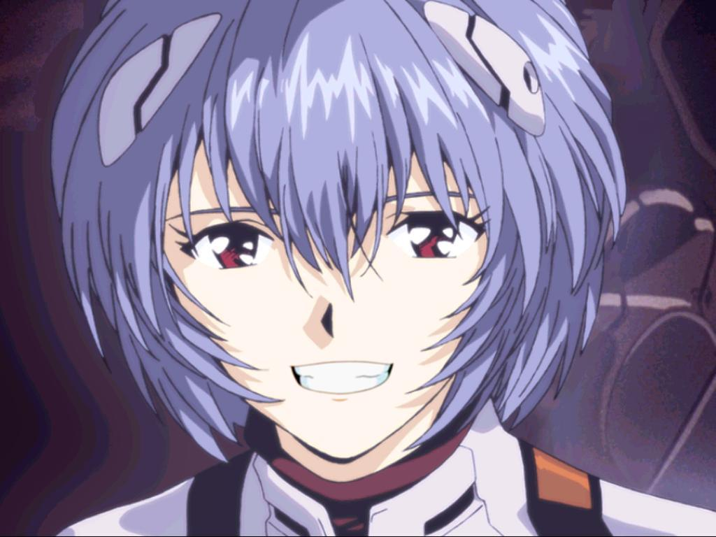 Why don't you just try smiling? : evangelion