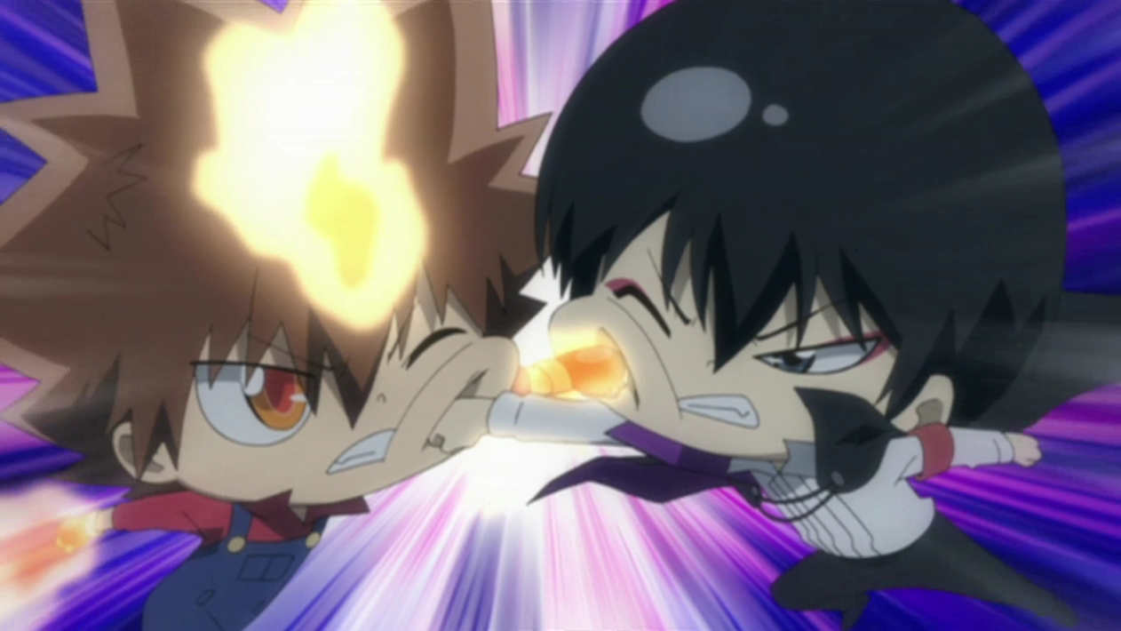 Finally, Tsuna and the others make their way to Hibarin's residence ...