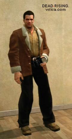 Brown Jacket With Fur Trim Tan Shirt And Black Pants