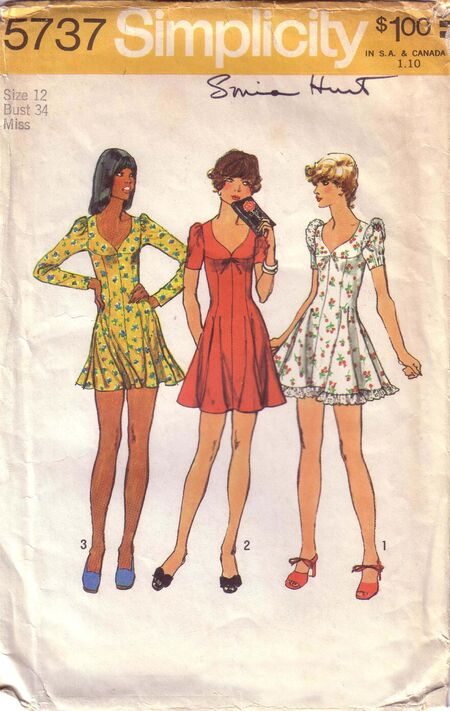 Simplicity 5737 A Vintage Sewing Patterns