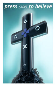 Croce con tasti Playstation