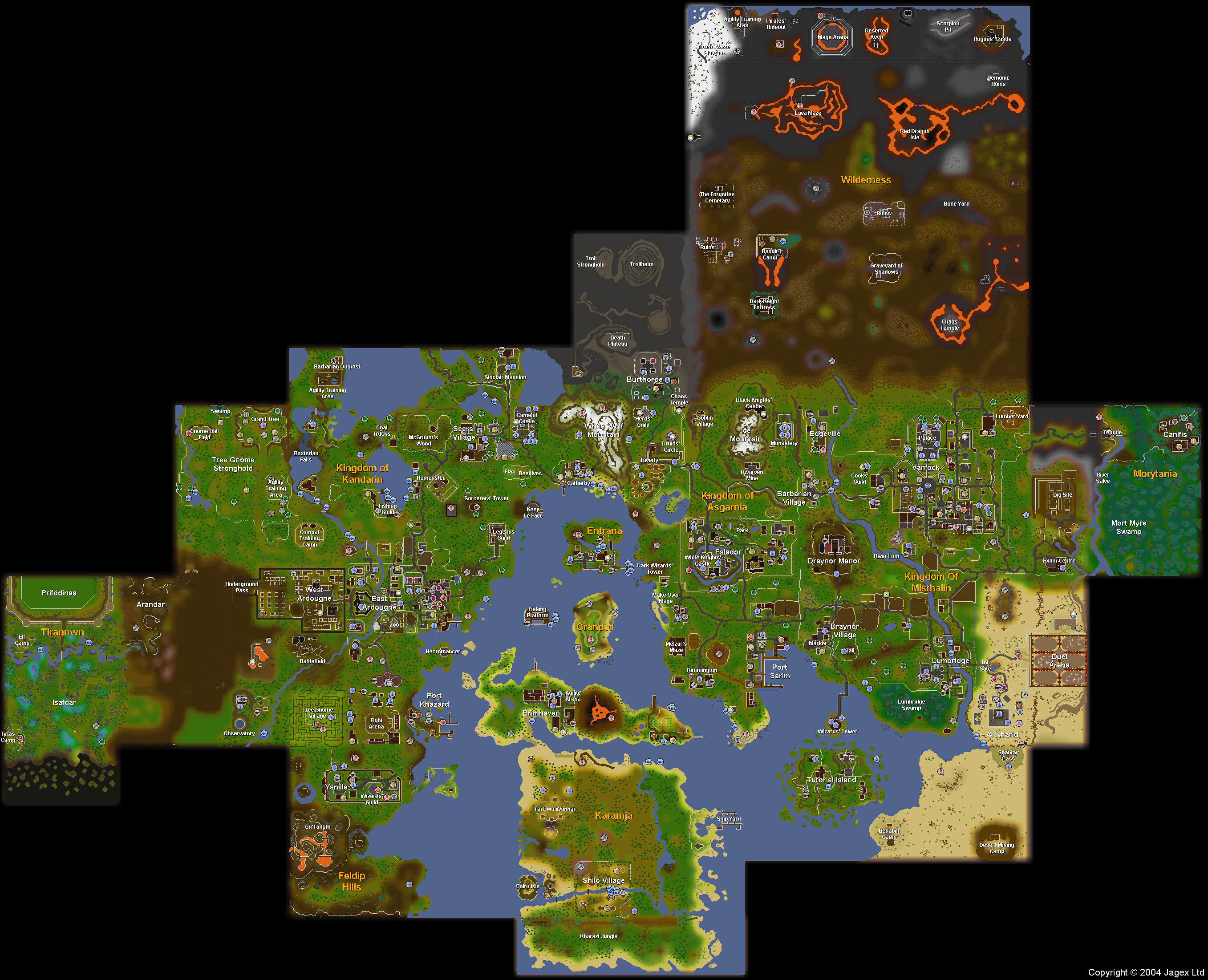 2007 runescape world map