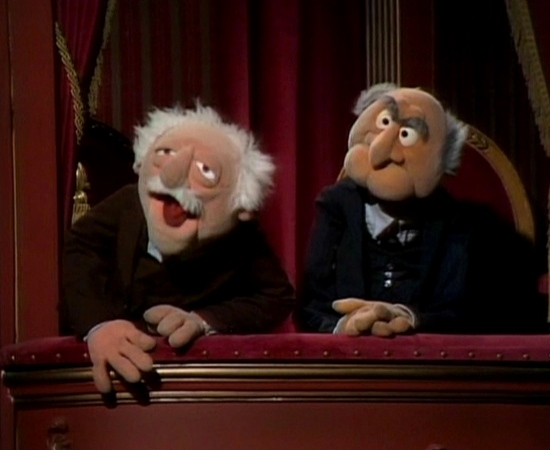 Statler and waldorf quotes for Balcony muppets
