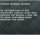 Crimson Demilune Abyssite