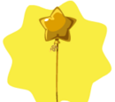 Gold Star Balloon