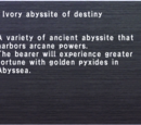 Ivory Abyssite of Destiny