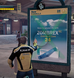Dead rising 2 spray paint zombrex sign