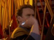 O'Brien wirft einen Pfeil