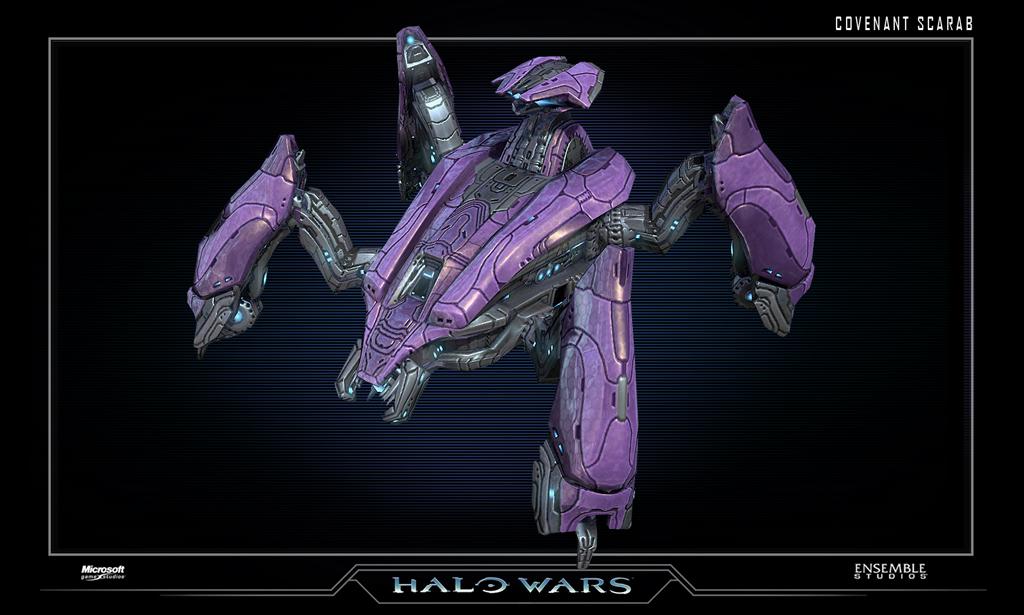 un scarab abandonado comandando este scarab y usarlo para destruir a    Halo 2 Scarab