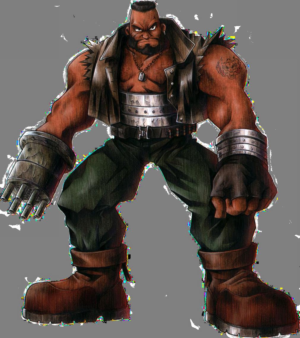 Final Fantasy VII (PS1/PC/PSN) Barret-FFVIIArt