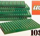 1087 6 LEGO Baseplates 8 x 16 Green