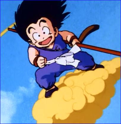 kid goku on flying - photo #38