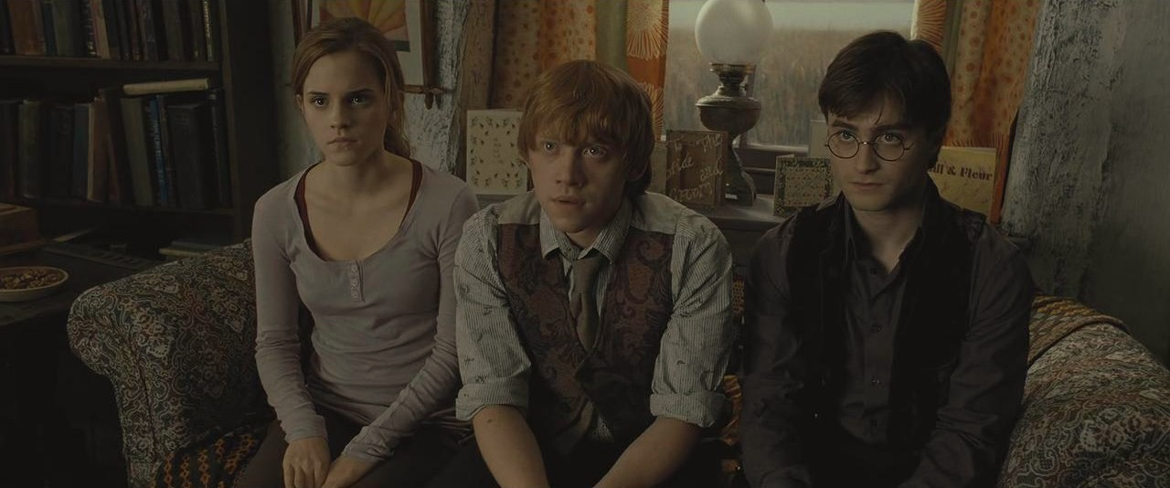 Image Harry Ron And Hermione During The Reading Of